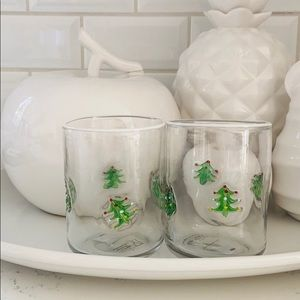 Anthropologie Jovie Christmas Tree Juice Glasses